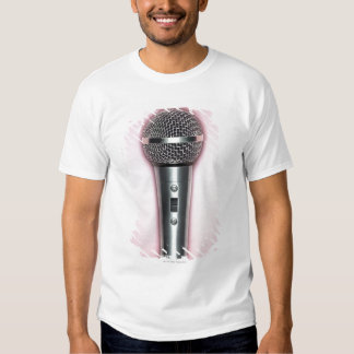 Microphone de chrome t-shirts