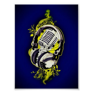 Microphone & Headset Poster