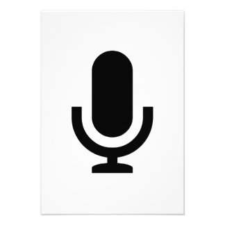 Microphone Icon Custom Announcements