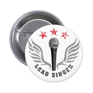 microphone lead singer never stop singing 2 inch round button