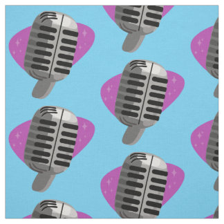 Microphone Madness Fabric