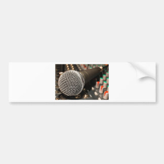 Microphone Mixer Cable Microphone Cable Singing Bumper Sticker