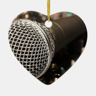 Microphone Mixer Cable Microphone Cable Singing Ceramic Ornament
