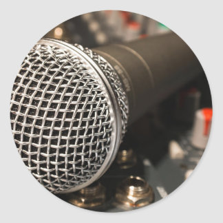 Microphone Mixer Cable Microphone Cable Singing Classic Round Sticker