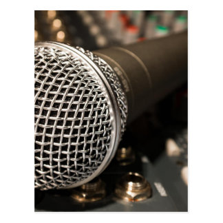 Microphone Mixer Cable Microphone Cable Singing Postcard