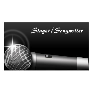 Microphone Music Business Cards