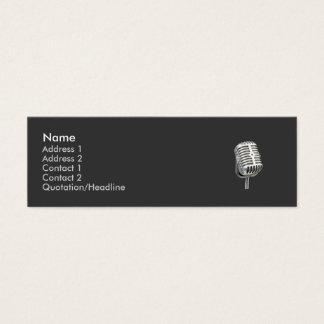 microphone old style skinny business card
