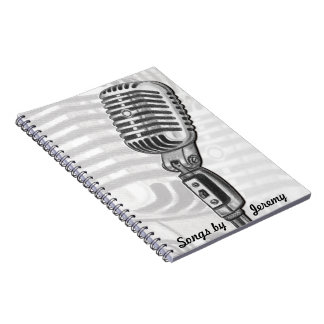 Microphone Personalized Lyric Book