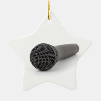 Microphone Photo Ceramic Ornament