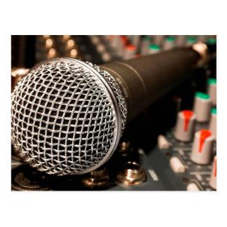 Microphone Postcard