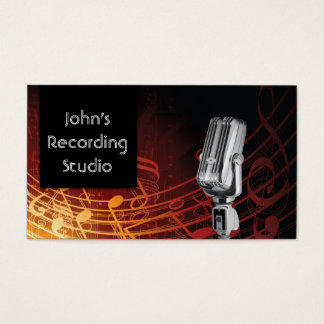 recording studio business cards