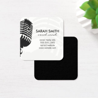 Microphone Square Business Card
