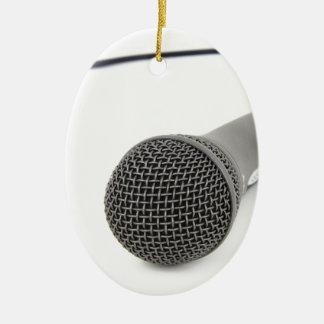 Microphone - Talk to me Ceramic Ornament