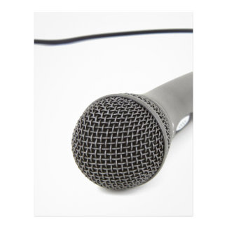 Microphone - Talk to me Letterhead
