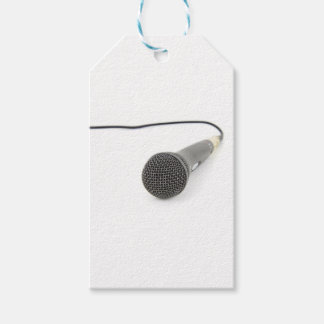 Microphone - Talk to me Pack Of Gift Tags