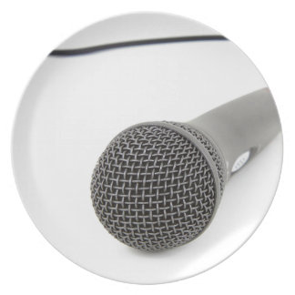 Microphone - Talk to me Plate