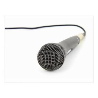 Microphone - Talk to me Postcard