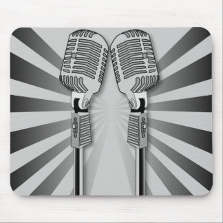 Microphones 3 Mouse Pad