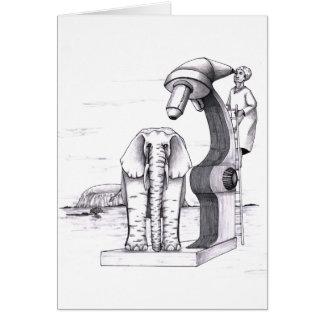 Microscope and an Elephant Card