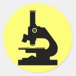 Microscope Classic Round Sticker