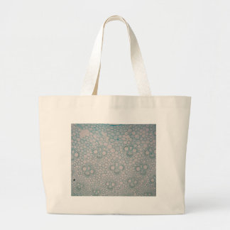 Microscope photo of a bamboo stem. large tote bag