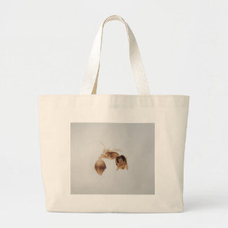 Microscope photo of an ant large tote bag