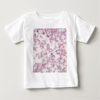 Microscope photo of human blood with Trypanosoma b Baby T-Shirt