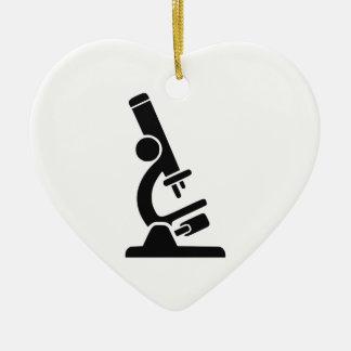 Microscope Silhouette Ceramic Ornament