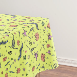 Microscopic Animals in Yellow Tablecloth