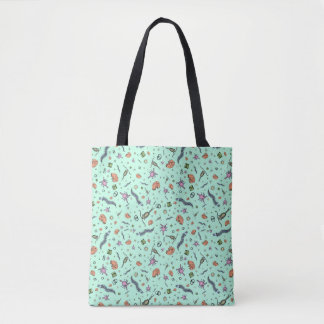 Microscopic Animals Tote Bag