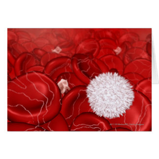 Microscopic look at blood cells card