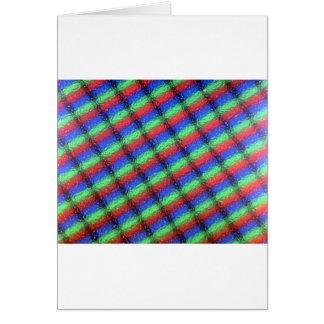 Microstructure d'affichage à cristaux liquides carte de vœux