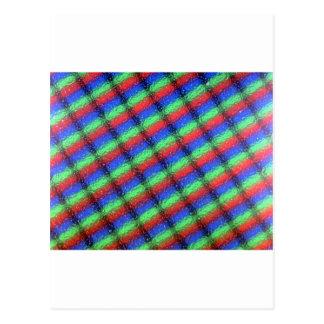 Microstructure d'affichage à cristaux liquides carte postale