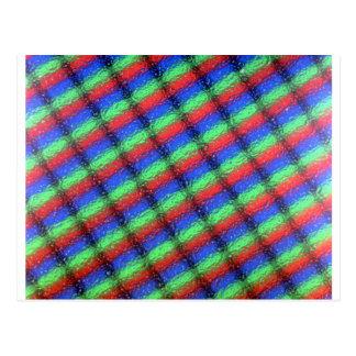 Microstructure d'affichage à cristaux liquides cartes postales