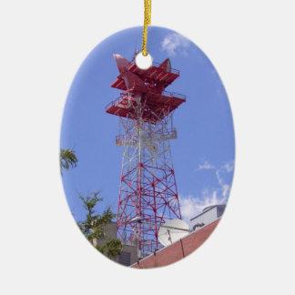 Microwave Relay Radio Telecom Tower Ceramic Ornament