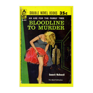 mid-1950s Bloodline to Murder pulp cover Acrylic Wall Art