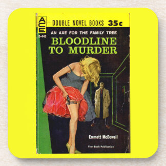 mid-1950s Bloodline to Murder pulp cover Coaster