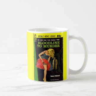 mid 1950s Bloodline to Murder pulp cover Coffee Mug