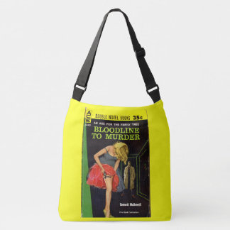 mid-1950s Bloodline to Murder pulp cover Crossbody Bag