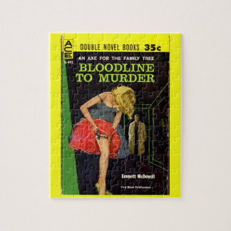 mid-1950s Bloodline to Murder pulp cover Jigsaw Puzzle
