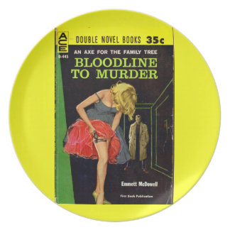 mid-1950s Bloodline to Murder pulp cover Plate
