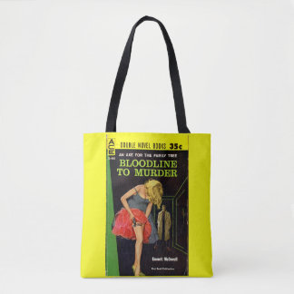 mid-1950s Bloodline to Murder pulp cover Tote Bag
