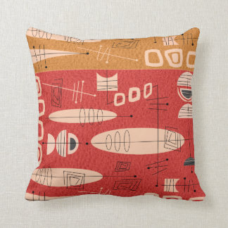 Mid-Century Atomic 4 Color Pillow