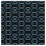 Mid Century Atomic Style Black and Blue Geometric Fabric