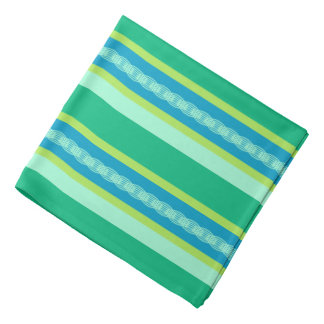 Mid-Century Awning Stripes, Jade Green Bandana