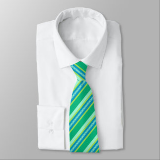 Mid-Century Awning Stripes, Jade Green Tie