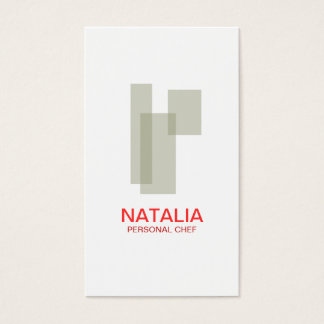 Mid-Century Box Logo (Taupe II) Business Card