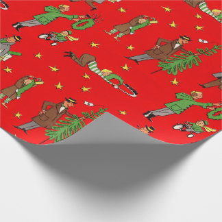 Mid-Century Christmas Wrapping Paper