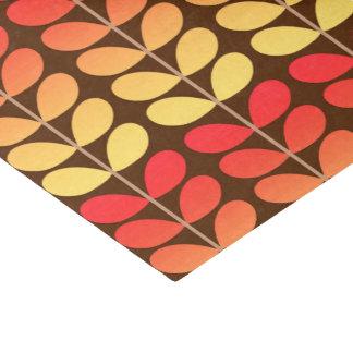 Mid Century Danish Leaves, Brown, Orange & Gold Tissue Paper