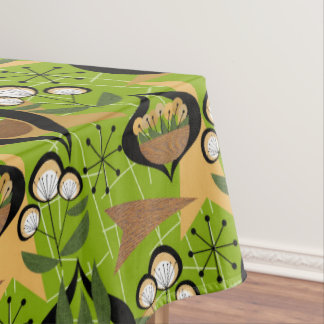 Mid-Century Fifties Style | Green, Houseplants Tablecloth